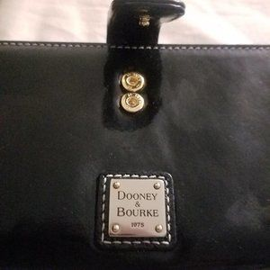 Authentic  Dooney & Bourke Wallet Black & Red NWT